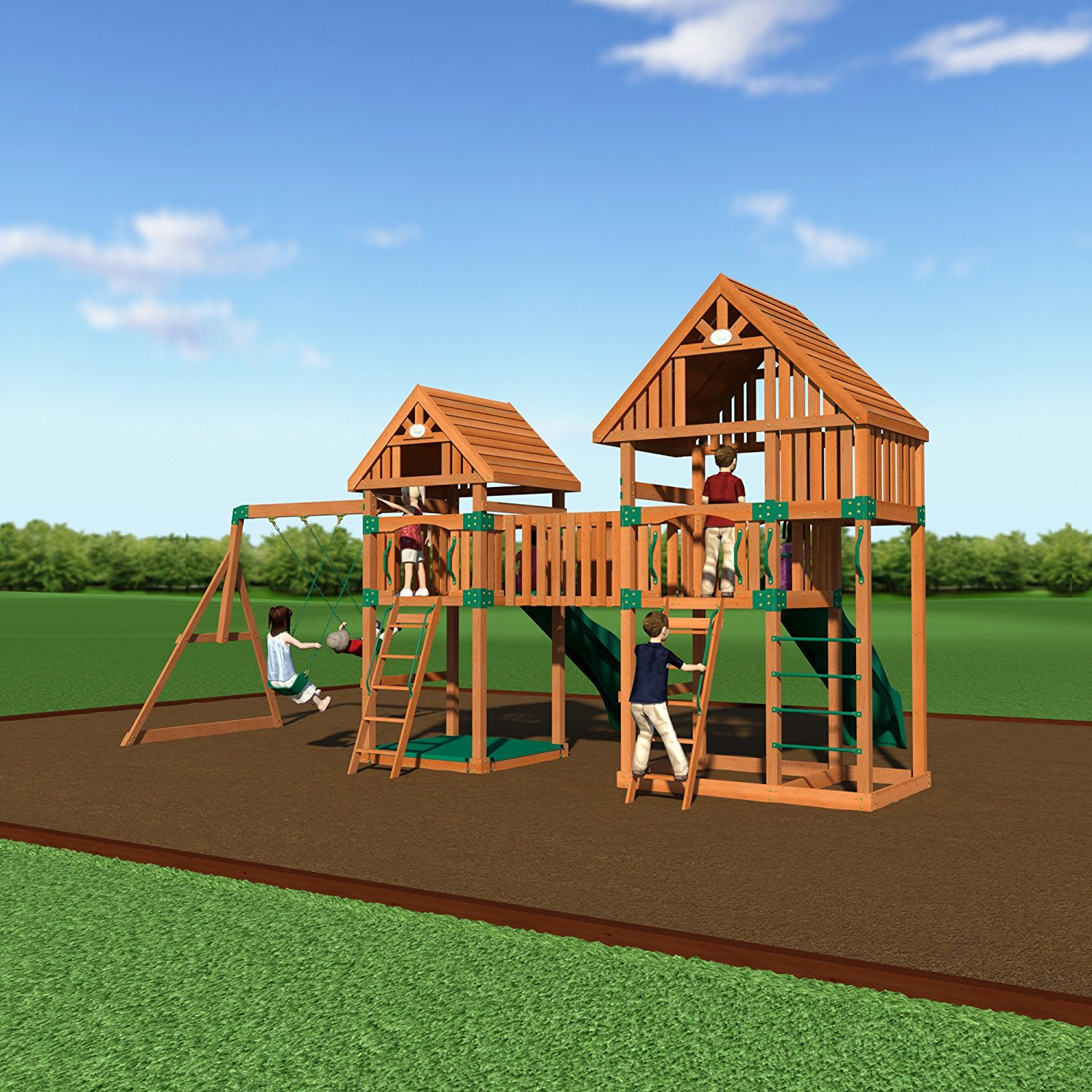 backyard discovery vista all cedar wood playset swing set 2