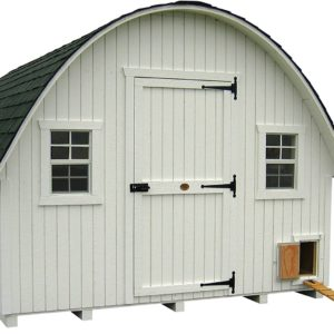 Little Cottage Company Round Roof Coop Panelized Playhouse Kit, 10' x 10'