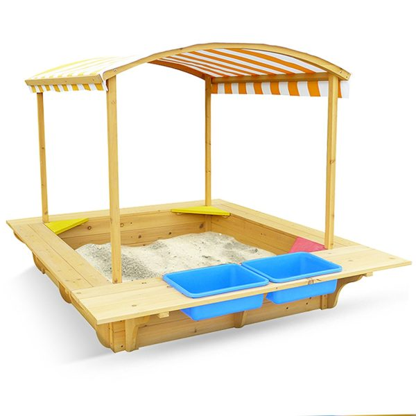 Outward Play Playfort Activity Sandbox with Canopy