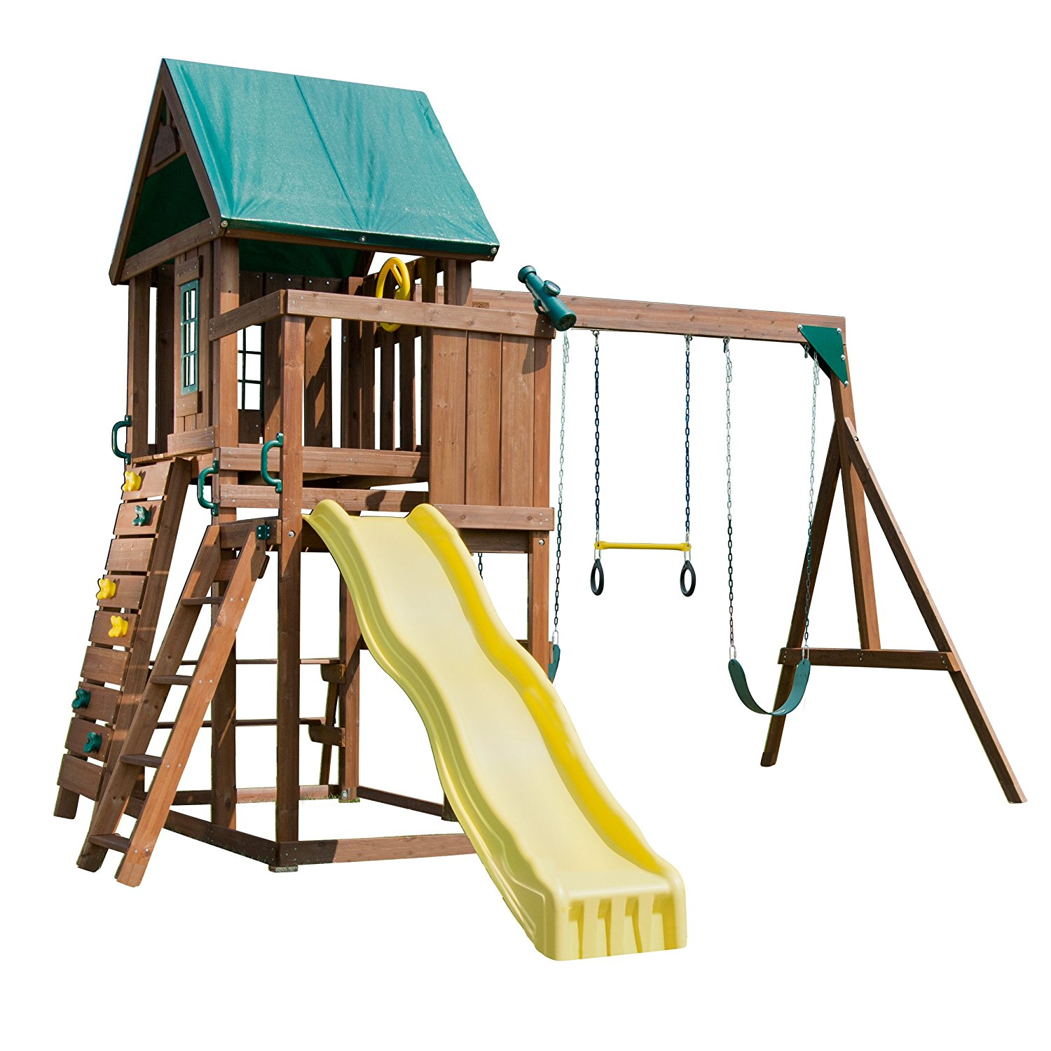 out equipment n itm set slide almost playground sold swing house outdoor playset swingset kids play