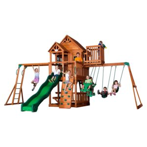6 Backyard Discovery Skyfort II All Cedar Wood Swing Set