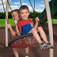Backyard Discovery Castle Grey Metal Swing Set and Outdoor Playground 5