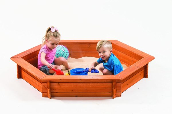 Creative Cedar Designs Hexagon Wooden Sandbox