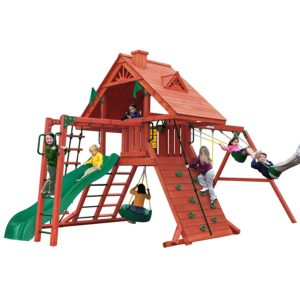 Sun Palace Cedar II Swing and Play Set