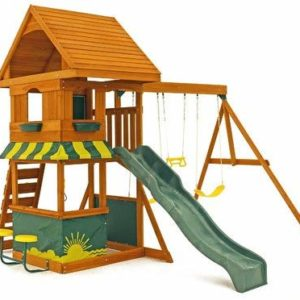 big backyard kidkraft magnolia cedar wood swing set